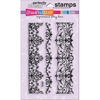 """Stampendous Perfectly Clear Stamps 4""""X6""""-Elegant Borders