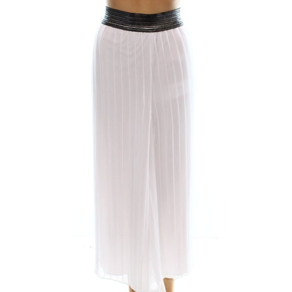 Alfani NEW White Women's Size Large L Capris Cropped Culottes Pants