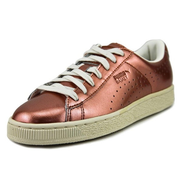 f5c8c793ddc Shop Puma Basket Classic Citi Metallic Men Round Toe Leather Bronze ...