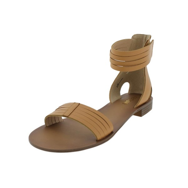 Kensie Womens Bibi Flat Sandals Open Toe Ankle Strap - 7.5 medium (b,m)