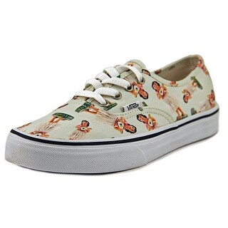 Vans Authentic Men  Round Toe Canvas Ivory Sneakers