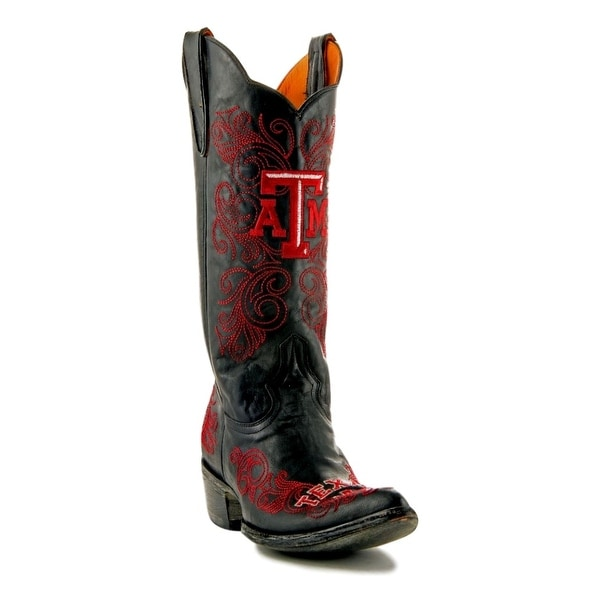 Gameday Boots Womens College Team Texas A&M Reveille Black