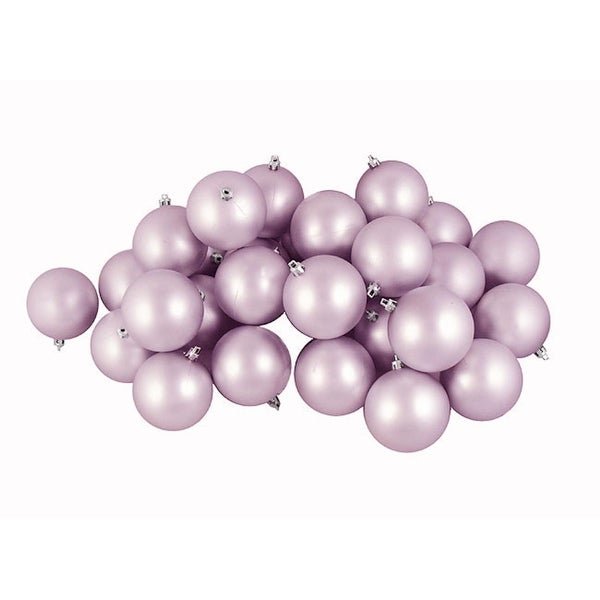 "60ct Matte Lavender Purple Shatterproof Christmas Ball Ornaments 2.5"" (60mm)"