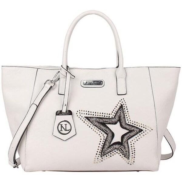 33f237955419 Nicole Lee Women  x27 s Brona Glitz Star Patch Shopper Bag White - US