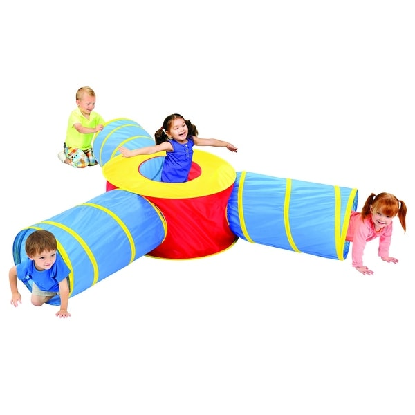 14c835bb3073 Shop 3-in-1 Children's Play Tunnel - Blue/Yellow/Red - 36.0 in. x 18.0 in.  x 20.0 in. - Free Shipping On Orders Over $45 - Overstock - 17417283