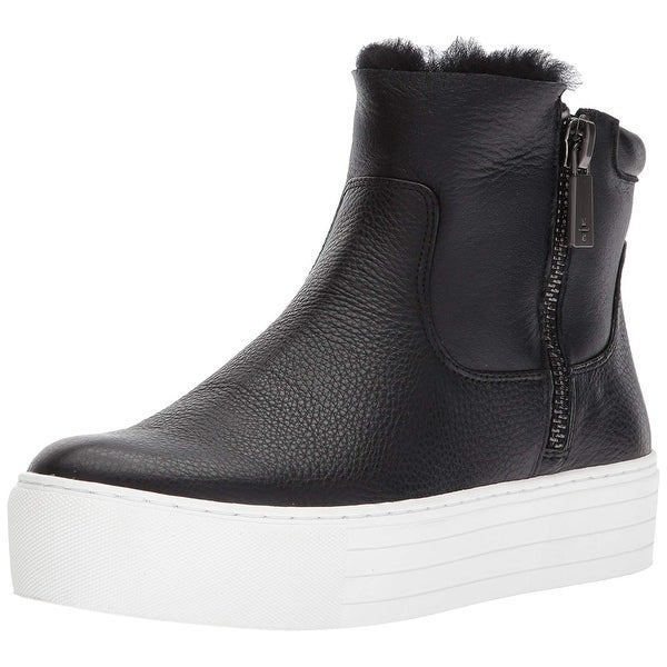 Kenneth Cole New York Women's Janelle Platform Bootie with Double Zip Shearli...