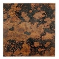 Lillypilly Copper Sheet Metal Square Mottled Patina 24 Gauge - 3x3 Inch - Thumbnail 0