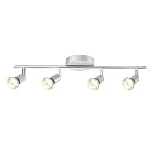 Globe Electric 58932 4-Light Adjustable Track Lighting Kit - Brushed nickel - N/A