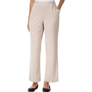 Alfred Dunner Womens Petites Casual Pants Knit Pull On