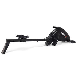 Gymax Foldable Magnetic Rowing Machine Rower w/ 10-Level Tension Resistance System - Black