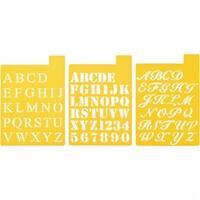 Stencil Mania Stencils 7''X10'' 3/Pkg-Fonts