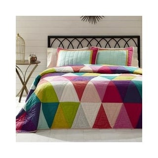 VHC Brands Taylor 3 Piece Queen Cotton Quilt Set
