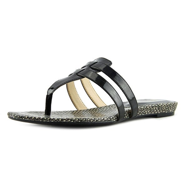 Nine West Outside Open Toe Synthetic Thong Sandal