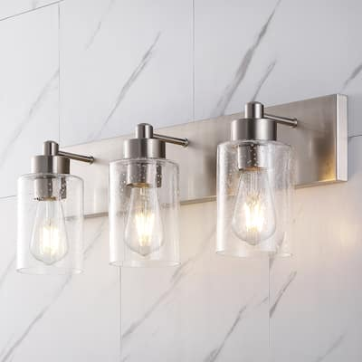 Irving Seeded Glass/Iron Modern Contemporary LED Vanity Light by Jonathan Y