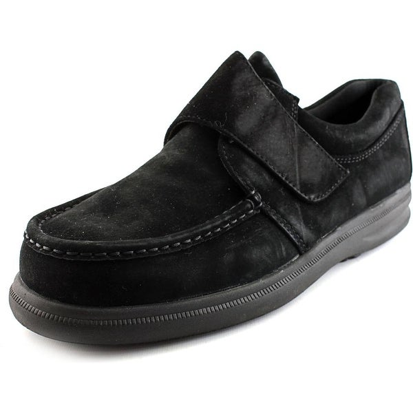 Hush Puppies Gil Men W Moc Toe Suede Black Loafer