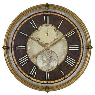 Aspire Home Accents 4264 23-1/2 Inch Diameter Framed Wood Clock from the Ridgepo