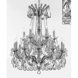SW Crystal Trimmed Maria Theresa Chandelier