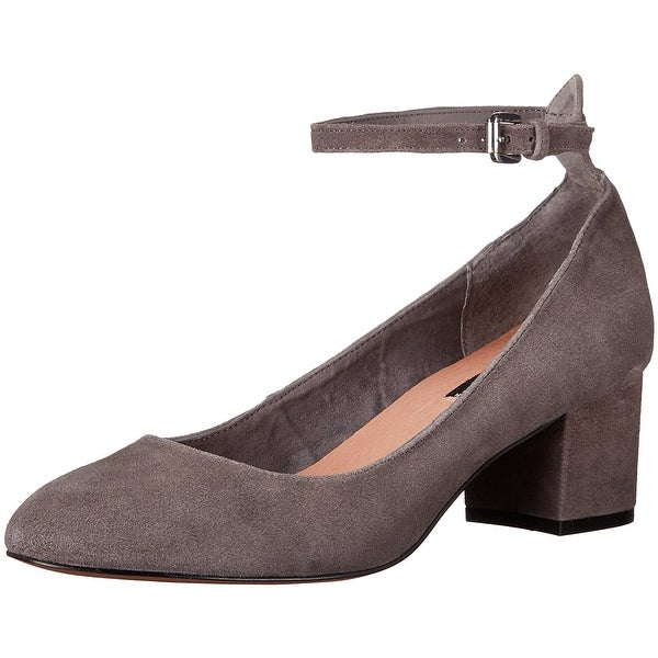 STEVEN by Steve Madden Womens Vassie Leather Closed Toe Ankle Strap Classic P...