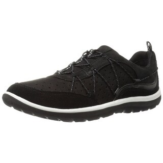 CLARKS Womens Flyer Leather Low Top Bungee Fashion Sneakers