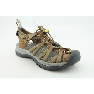 Keen Whisper Women Round Toe Canvas Brown Sport Sandal