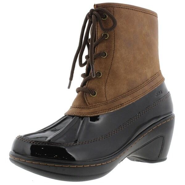 JBU by Jambu Womens Caramel Rain Boots Patent Memory Foam - 7.5 medium (b,m)