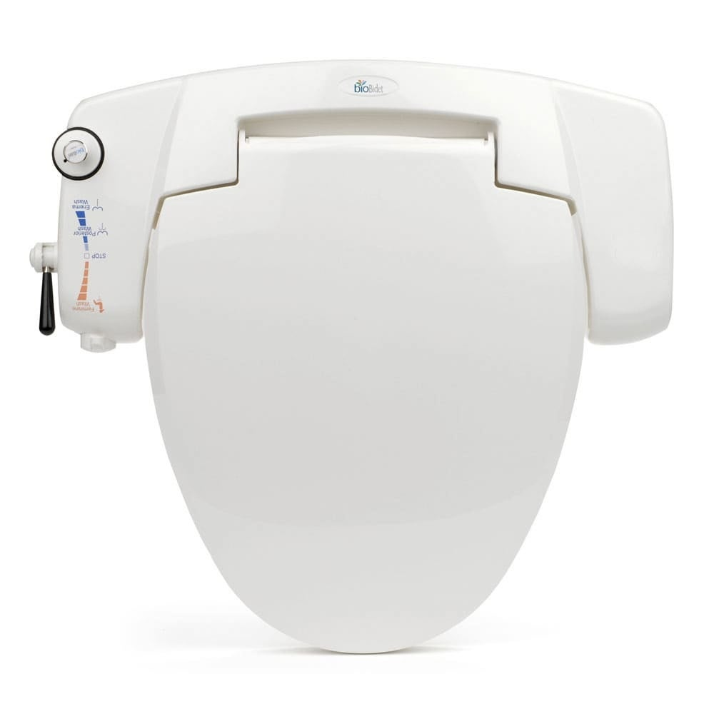 Shop Biobidet Bb I3000 Premium Elongated Non Electric Bidet Toilet Seat White Overstock 22905442