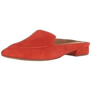 Franco Sarto Womens Sela Leather Closed Toe Mules