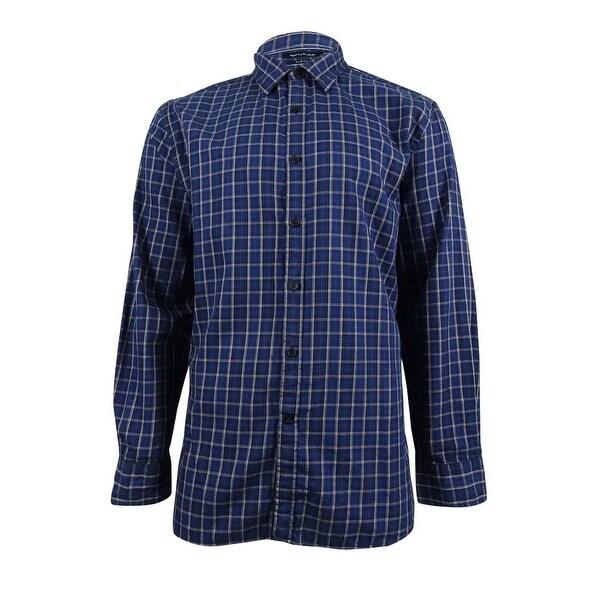 Nautica Men's Slim-Fit Atlantic Plaid Shirt - Navy