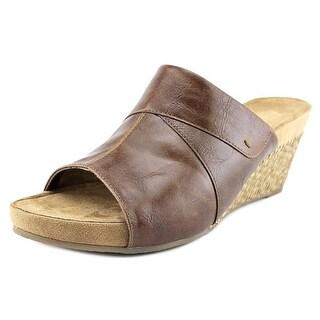 A2 By Aerosoles Light N Sweet Women Open Toe Synthetic Brown Wedge Heel