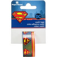 Paper House Licensed Washi Tape 2/Pkg-Superman Logo