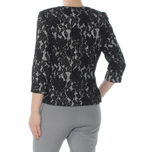 Alex Evenings Womens Petites Lace Shimmer Jacket