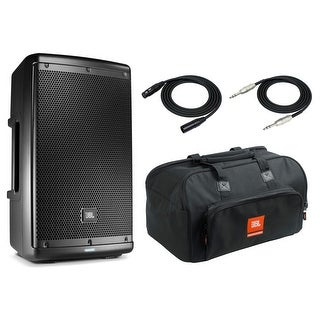 """JBL EON610 Speaker Sound System with JBL Carrying Bag, 2 XLR and 1/4"""" TRS Cables"""
