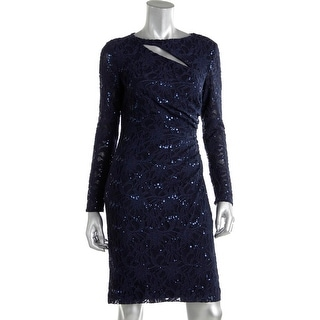 Lauren Ralph Lauren Womens Lace Sequined Party Dress