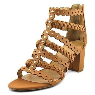 Franco Sarto Paisley Women Open Toe Synthetic Brown Gladiator Sandal