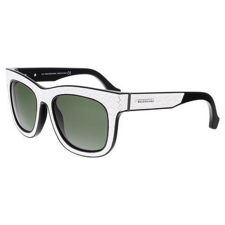 Balenciaga BA0009 23N Cracked White Square Sunglasses