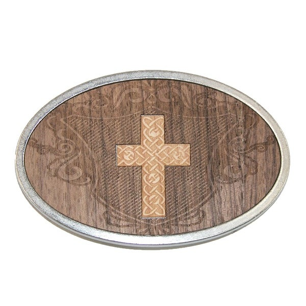 Buckle Down Carved Cross Belt Buckle - One size