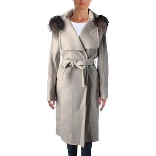 Carolina Herrera Womens Jacket Mink Fur Belted - 4
