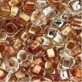 Czech Seed Beads 8/0 Crystal Metallic Foil Lined Mix (1 Ounce) - Thumbnail 0