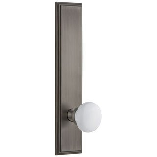 Grandeur CARHYD_TP_SD_NA  Carre Solid Brass Tall Plate Rose Single Dummy Door Knob with Hyde Park Knob