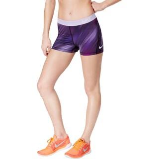 Nike Womens Pro Cool Shorts Training Printed (Option: XS - dark iris/white)