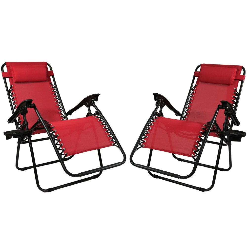 Sunnydaze Zero Gravity Lounge Chair with Pillow and Cup Holder, Multiple Colors Available - Thumbnail 67