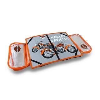 Harley Davidson Kids Bean Bag Lap Desk w/Storage Pockets and Elastic Straps