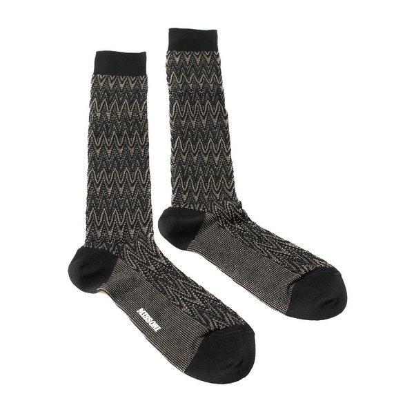 Missoni GM00CMU5239 0003 Gray/Black Knee Length Socks - Grey