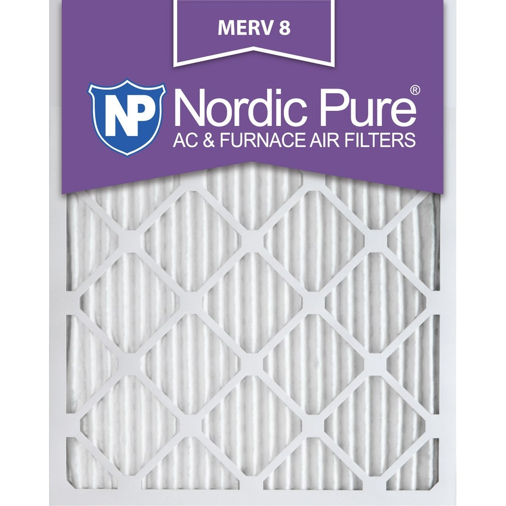 Nordic Pure 16x25x1 Pleated MERV 8 AC Furnace Air Filters Qty 12