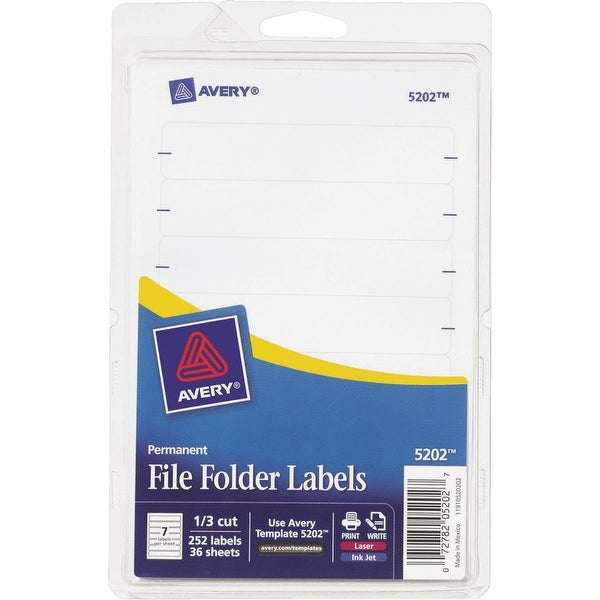 Avery Products 252Pk Wht Filing Label