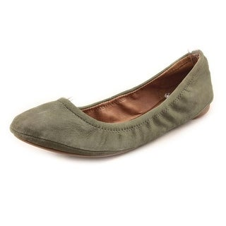 Lucky Brand Emmie Women W Round Toe Leather Green Flats