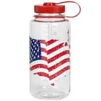 Nalgene Tritan Wide Mouth 32 oz. Water Bottle - USA Flag - usa flag - 32 oz.