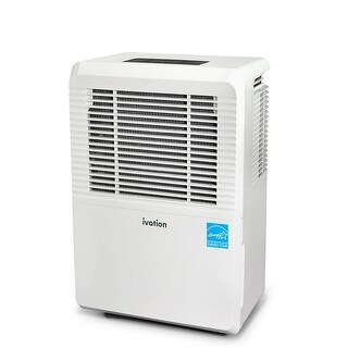 Ivation 30 Pint Energy Star Dehumidifier - Large-Capacity for Spaces Up to 2,000 Sq Ft -Programmable Humidistat, Hose Connector