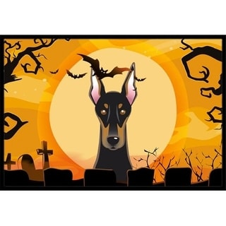 Carolines Treasures BB1803MAT Halloween Doberman Indoor & Outdoor Mat 18 x 27 in.