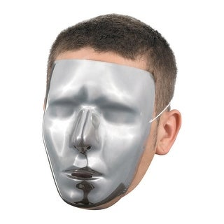 Disguise Blank Male Chrome Mask - Silver
